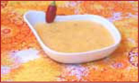 csípős édesburgonya leves