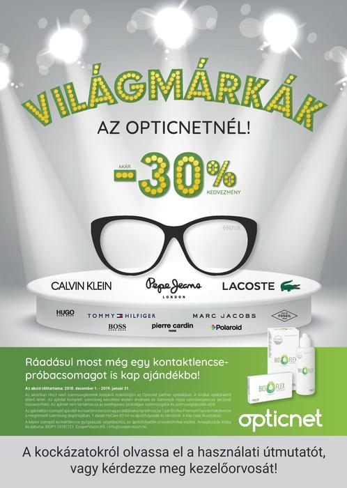 Világmárkák az Opticnetnél!