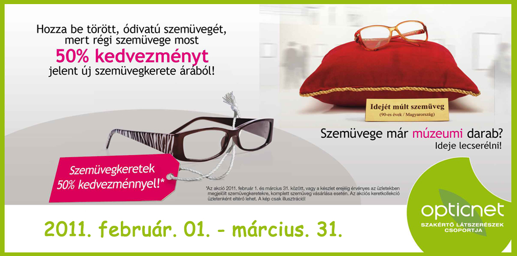 féláras szemüvegkeret 2011 akció