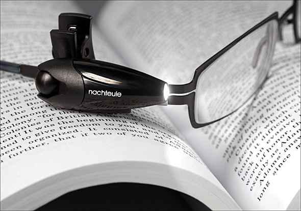 éjjeli bagoly szemüvegre csíptethető olvasólámpa