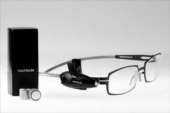 nachteule szemüvegre csíptethető olvasólámpa