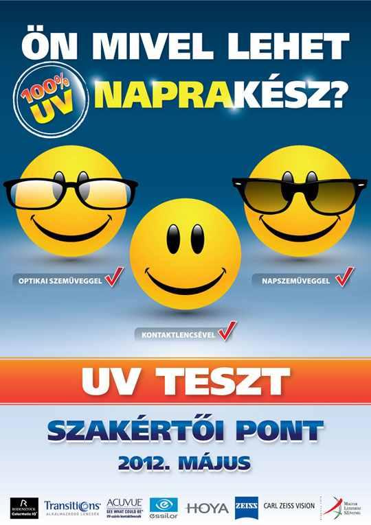 országos uv-teszt 2012