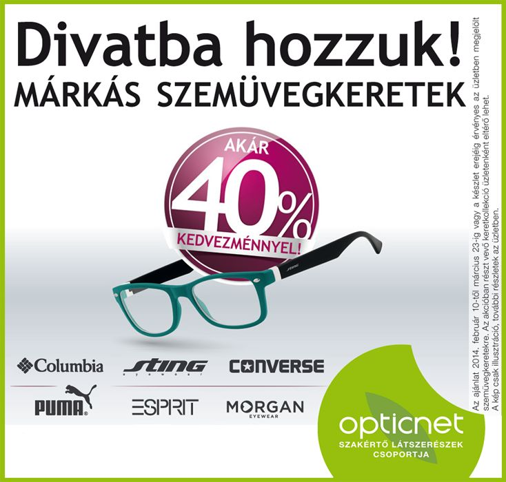 Márkás szemüvegkeretek akcióban