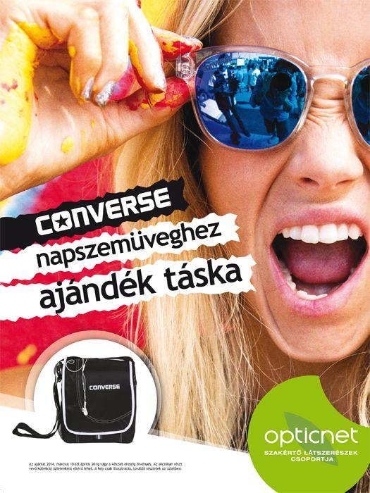 Converse napszemüveghez ajándék táska akció