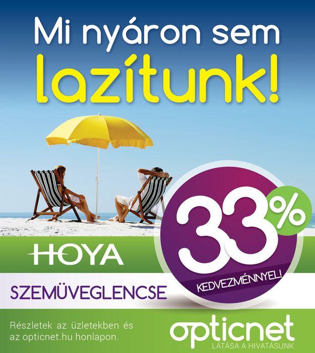 Hoya szemüveglencse 33% kedvezménnyel