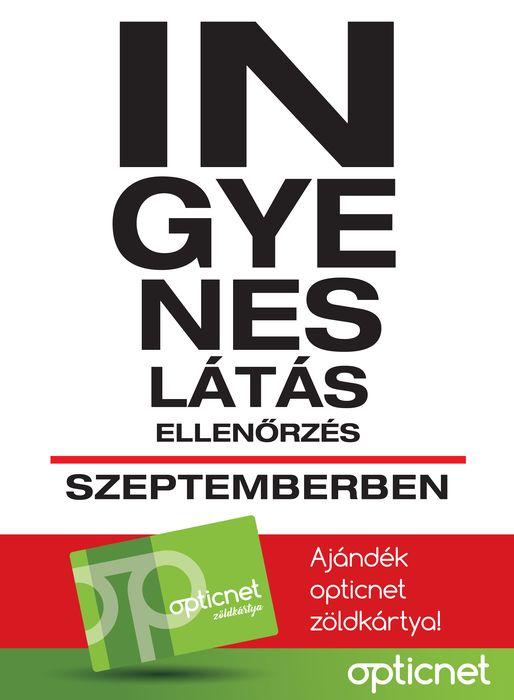 Ingyenes látásellenőrzés szeptemberben