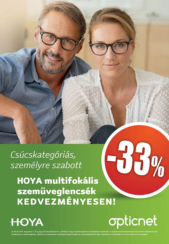 Hoya MyStyle V+,Lifestyle 3 és 3i multifokális lencsék 33% kedvezménnyel